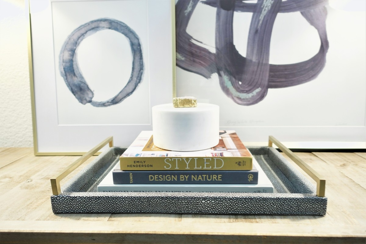 entryway console table  Living Room Makeover by popular Houston lifestyle blog, Haute and Humid: image of a remodeled entryway.