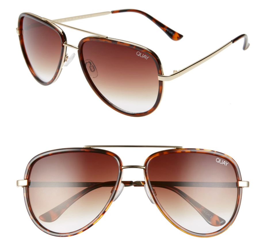 sunglasses | Spring Clothing by popular Houston fashion blog Haute and Humid: image of JLO All in 56mm Aviator Sunglasses QUAY AUSTRALIA