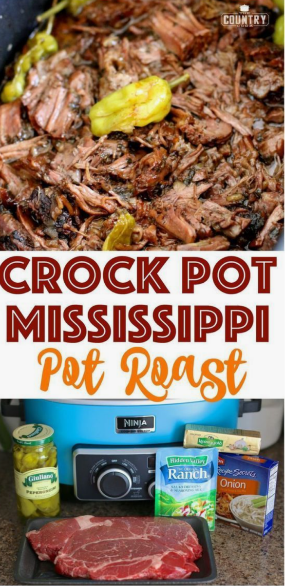 Stuck at Home Recipes by popular Houston lifestyle blog, Haute and Humid: image of Mississippi pot roast.