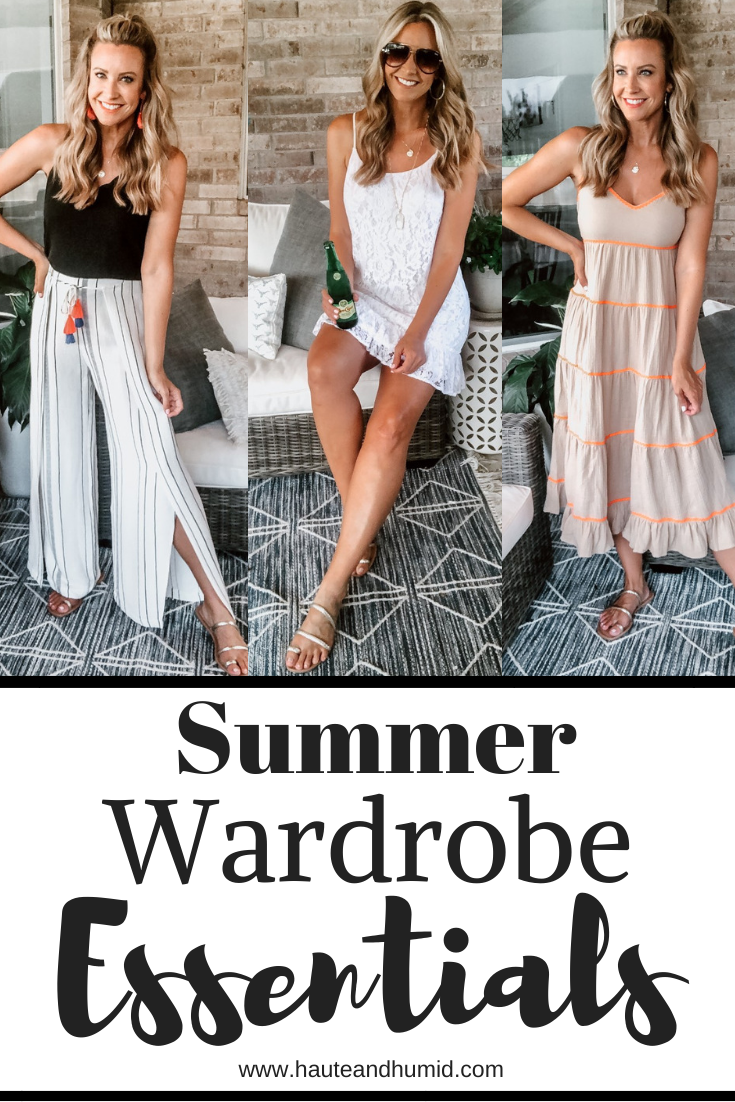 walmart fashion | Summer Style by popular Houston fashion blog, Haute and Humid: Pinterest image of a woman wearing various Walmart Scoop clothing items.