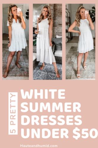 5 White Summer Dresses Under $50
