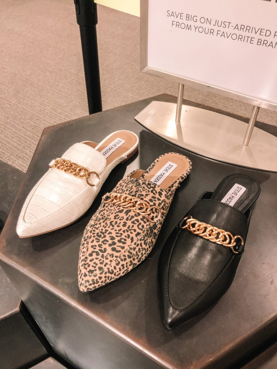 nordstrom anniversary sale shoes | Nordstrom Anniversary Sale by popular Houston fashion blog, Haute and Humid: image of a of Steve Madden mules.