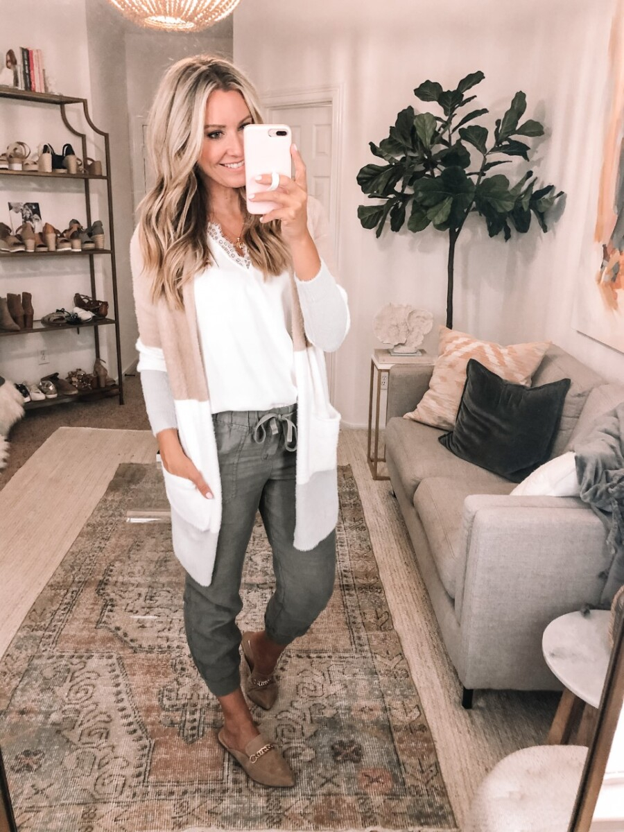 amazon fall outfit | Best Amazon Products by popular Houston life and style blog: image of a woman wearing a lace cami tank.