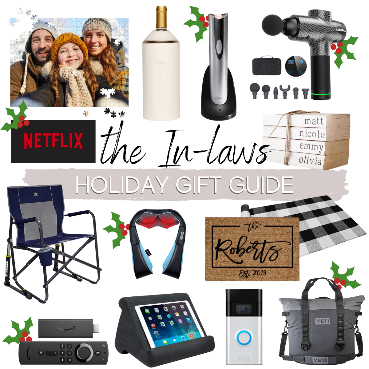 in laws gift ideas |Christmas Gift Ideas by popular Houston life and style blog, Haute and Humid: collage image of in-law gift ideas.