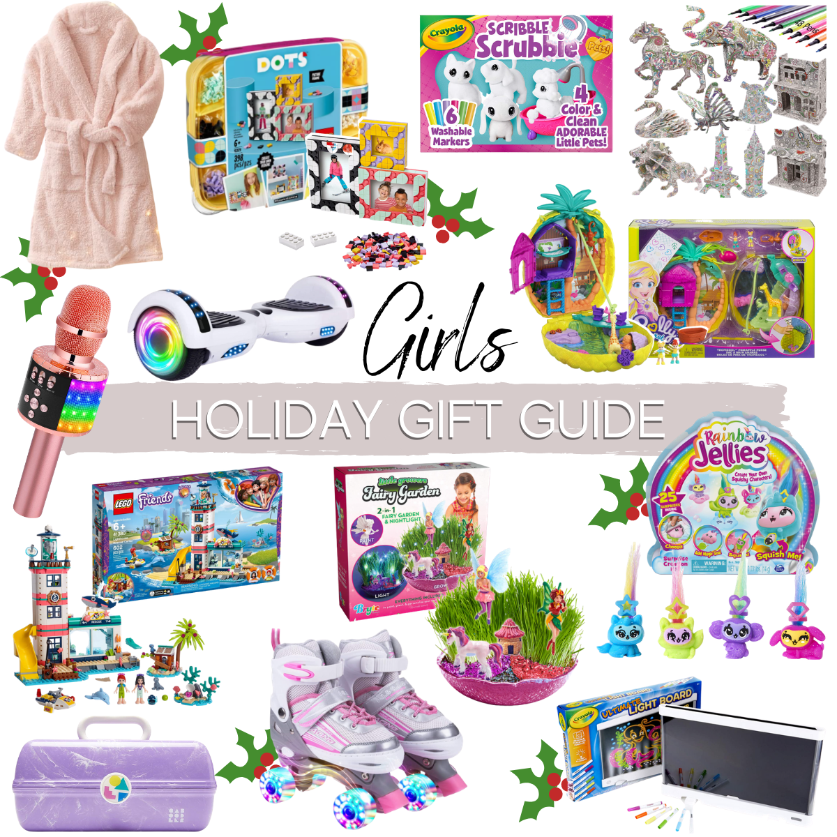 girls gift guide |Christmas Gift Ideas by popular Houston life and style blog, Haute and Humid: collage image of gift ideas for girls.