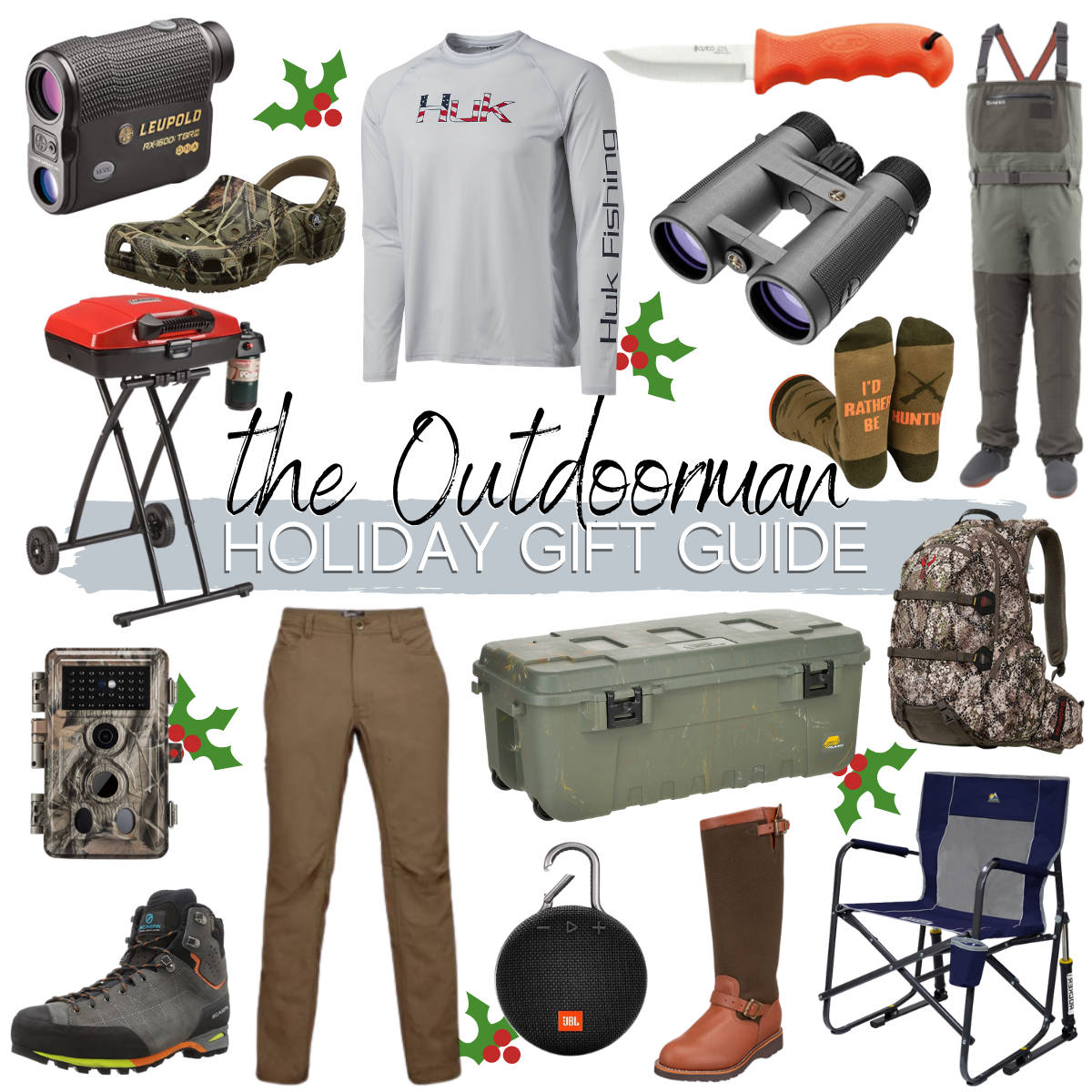 mens christmas gift ideas |Christmas Gift Ideas by popular Houston life and style blog, Haute and Humid: collage image of outdoor gift ideas.