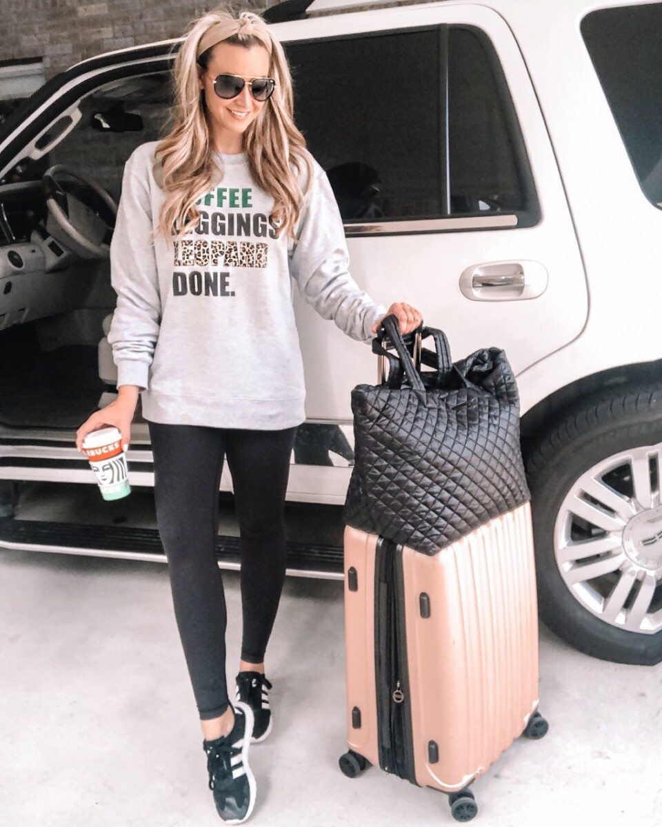 amazon leggings |Amazon Bestsellers by popular Houston life and style blog, Haute and Humid: image of a woman wearing lululemon dupe black leggings.