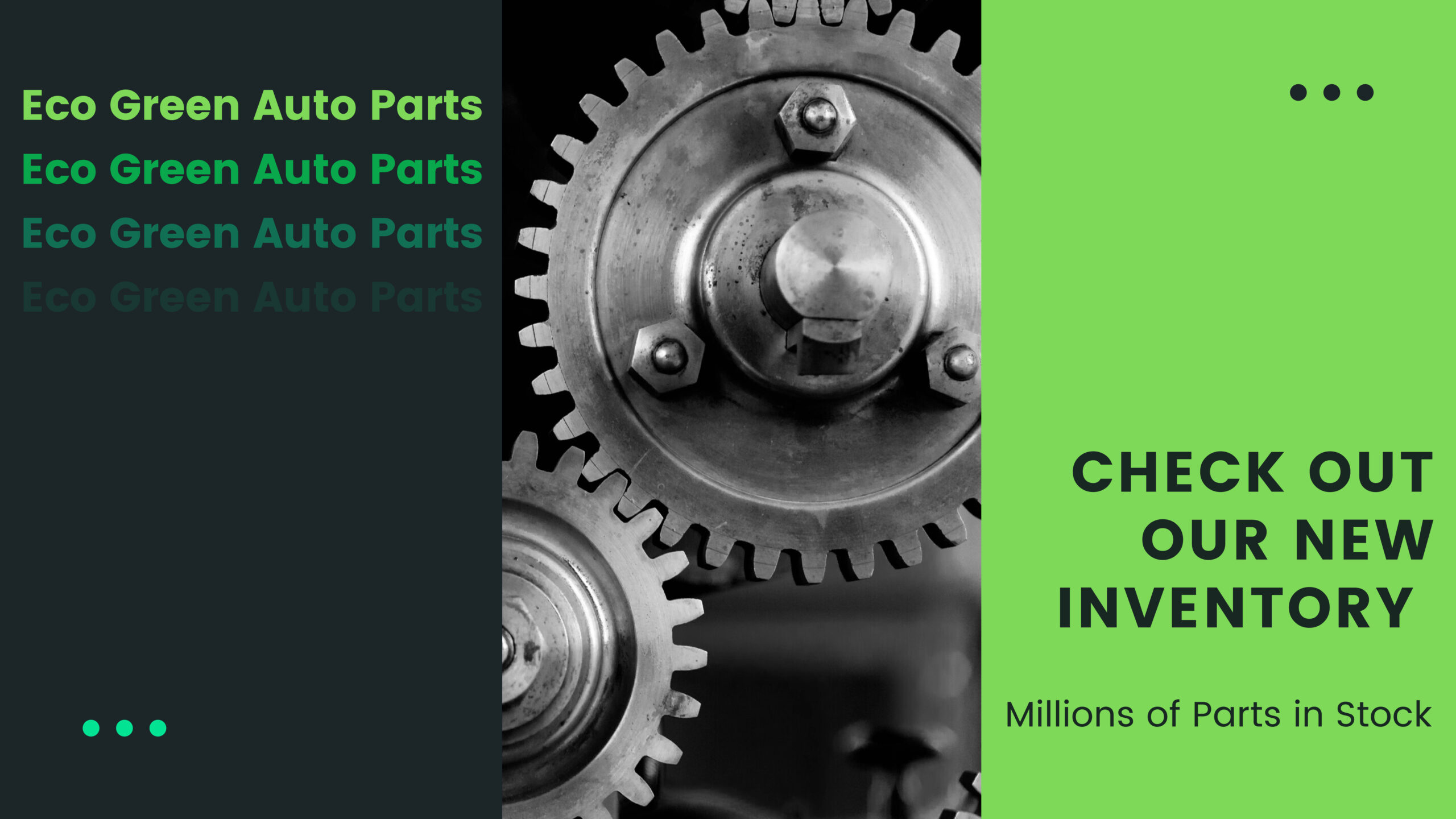 Eco Green Auto Parts: Check Out Our New. Millions of Parts in Stock