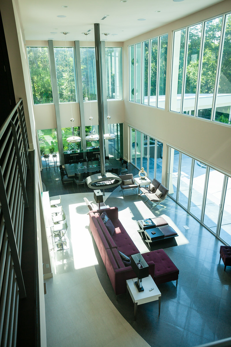 Upstairs View of the Chandra Living Room