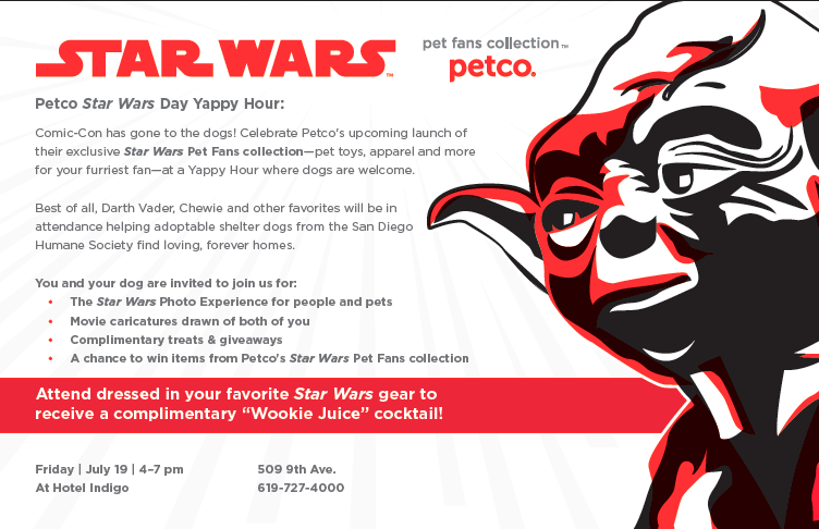 The Star Wars Day Yappy Hour PetCo Park SDCC