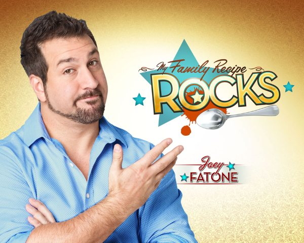 We loved this guy in My Big Fat Greek Wedding and now he's the producer and host in My Family Recipe Rocks.   Best known as the phat-one in N'SYNC he is Joey Fatone.