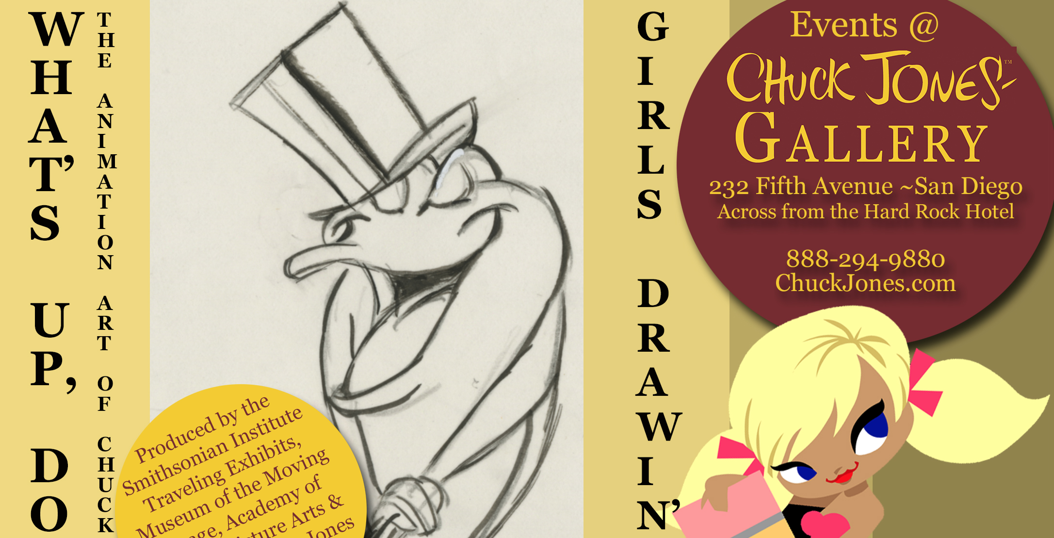You Cant Spell PARTY without A.R.T. Get Classy SDCC at Chuck Jones Gallery