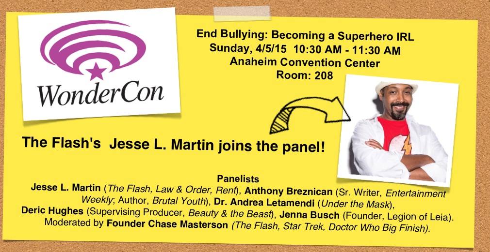 CWs The Flash Star Jessee L. Martin Leads Pop Culture Anti-Bullying Coalition Panel at WonderCon