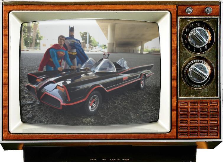 DC comics Special-Batman-Superman-Saturday Morning Cereal-Robot Chicken-Console