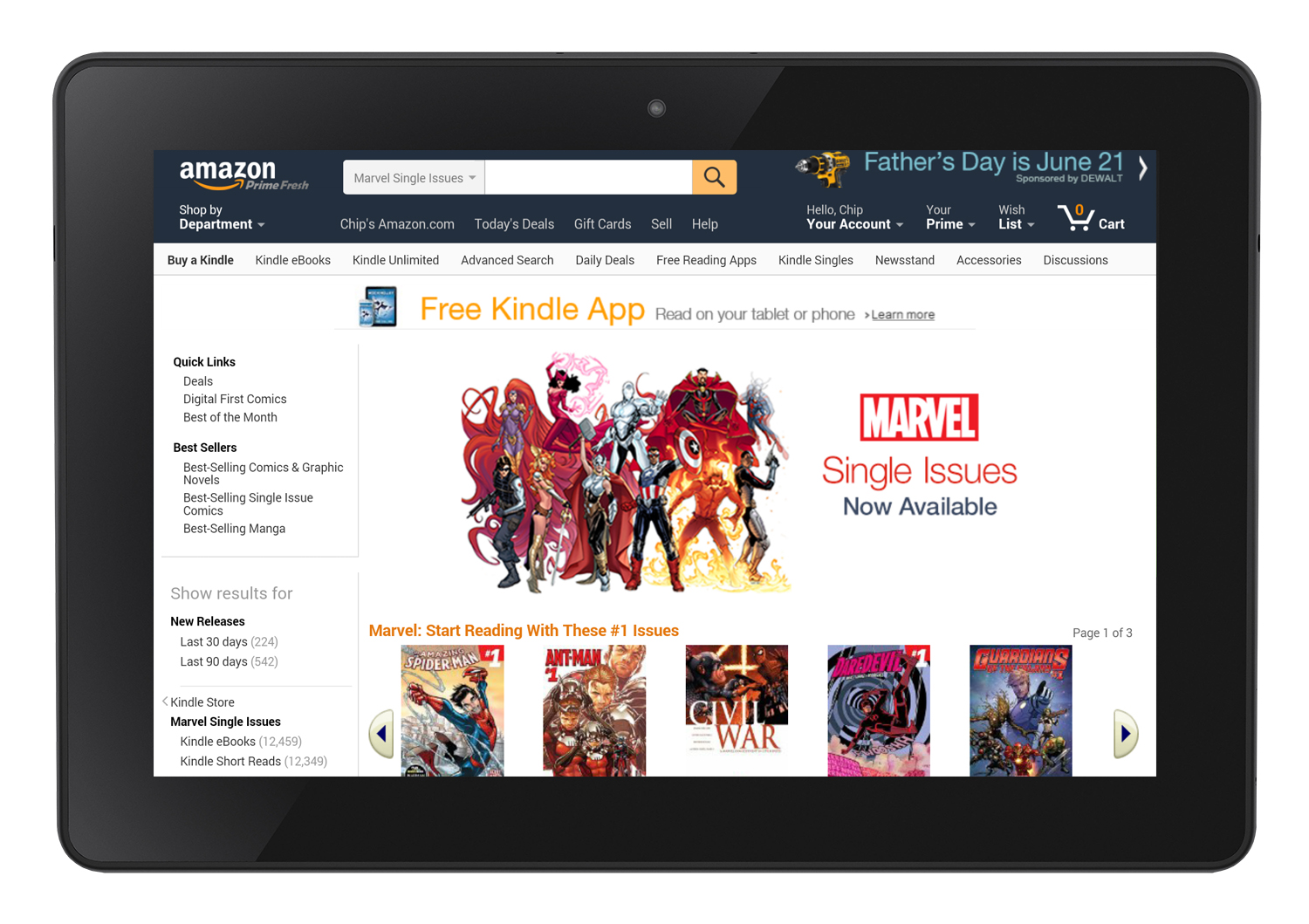 Marvel Renews Digital Comics Agreement with ComiXology and Expands to Amazon