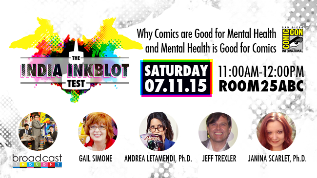 NYT Best Seller Gail Simone Makes FIRST SDCC Appearance with Broadcast Thought and The Inkblot Test