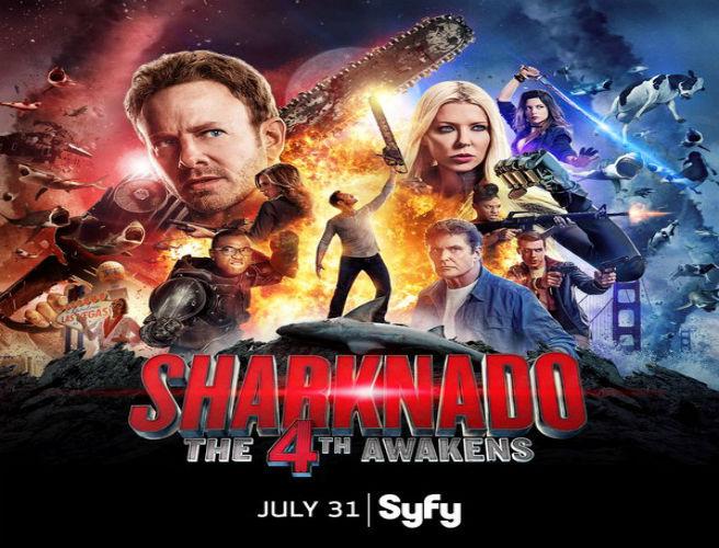THE 4th AWAKENS-THE ASYLUM & SYFY BRING  SHARKNADO 4 TO SDCC