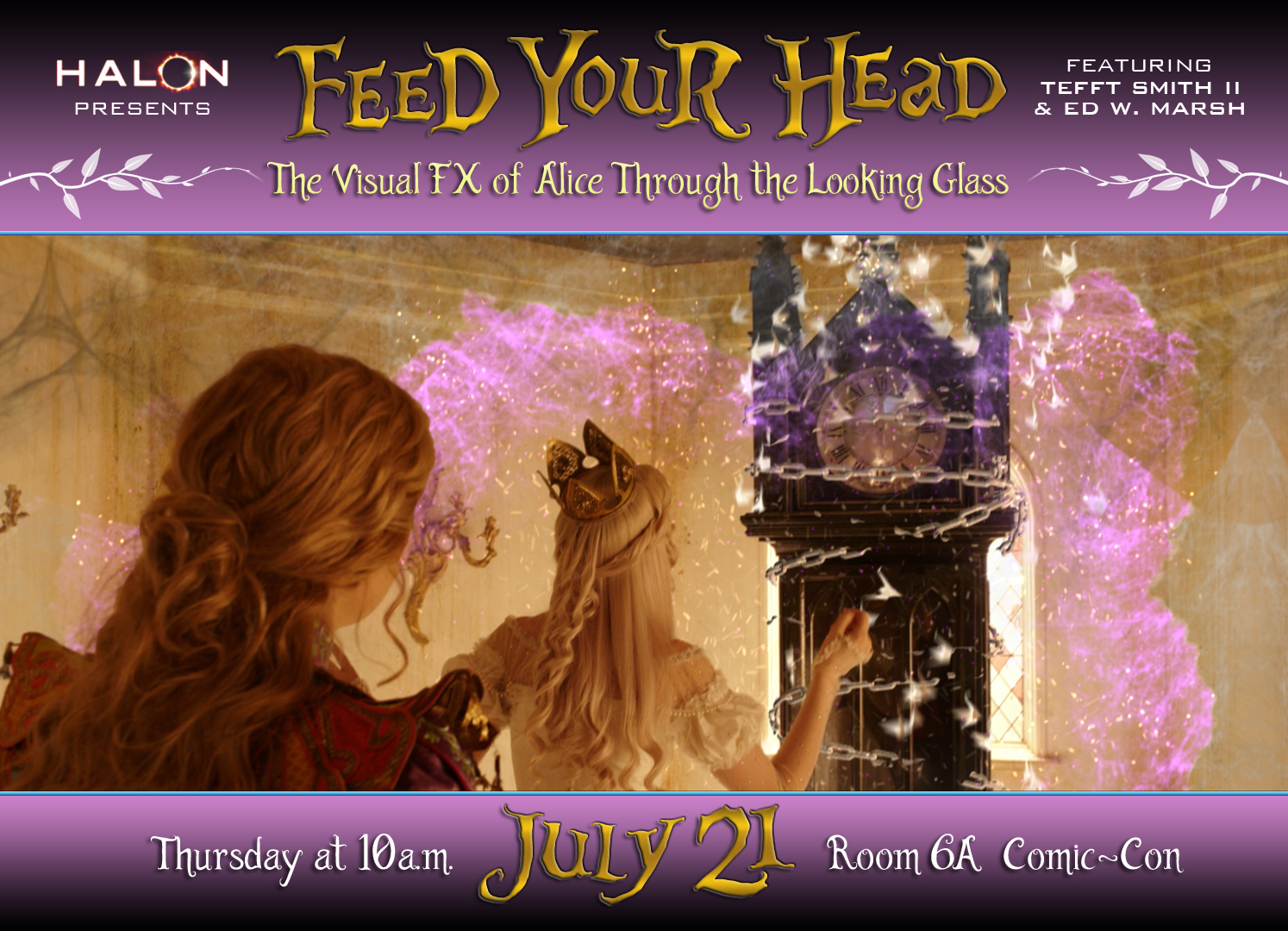 As the Dormouse Said, Feed Your Head: The VFX of Alice Through the Looking Glass Panel at SDCC!
