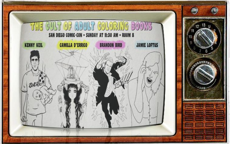 SMC TV SDCC Alternate Show 2016 Devastator Press Cult of Adult Coloring Book