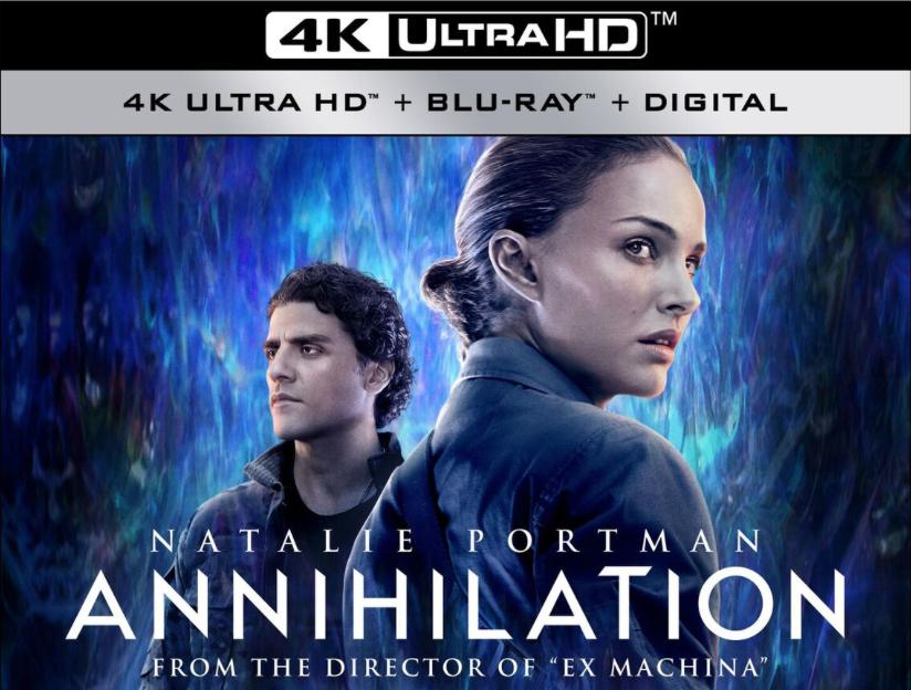 Natalie Portman's ANNIHILATION Shimmers on 4K UltraHD Blu-ray Combo Pack!