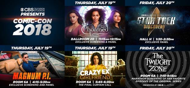 CBS Studios: Charmed, Star Trek Discovery, Magnum PI, Twilight Zone Make a SDCC Impression!