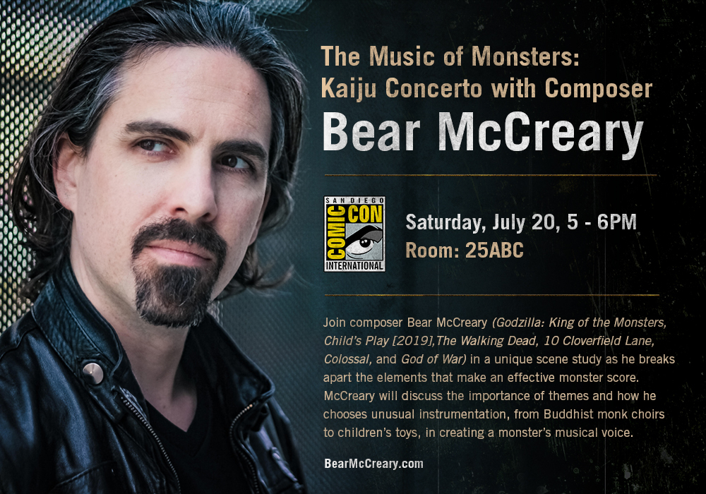 TV and Movie Master Composer BEAR McCREARY at SDCC? That's Sounds Good to Me!