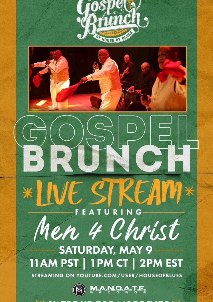 House of Blues World-Famous Gospel Brunch Live Stream Mother's Day Weekend