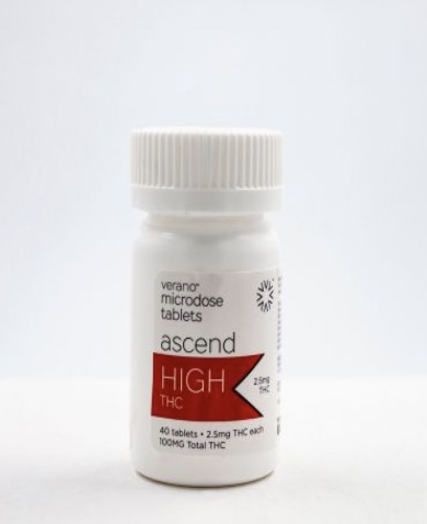 Ascend High THC Microdosing Tablets by Verano
