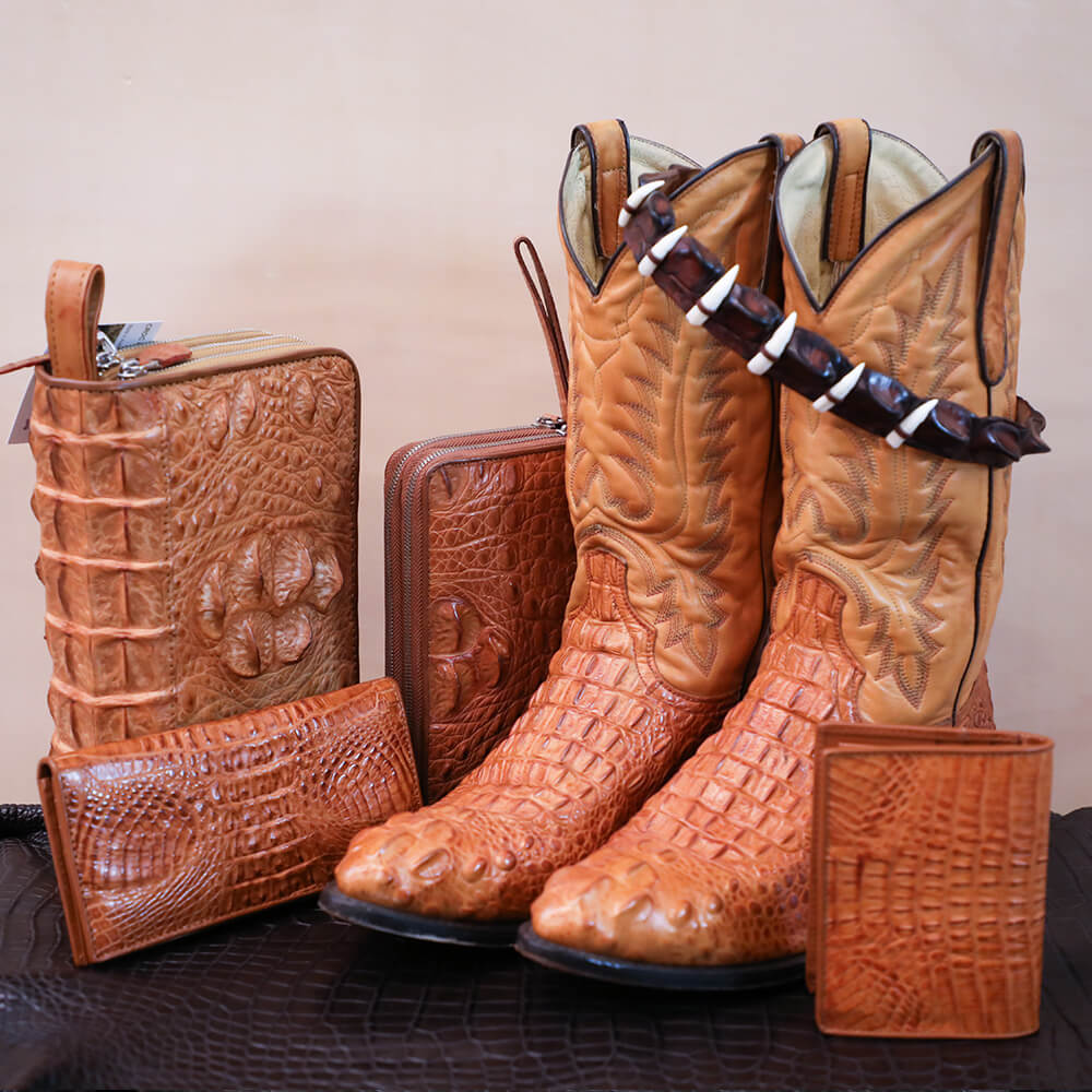 Hornback Crocodile Tail Wrap, Wallet and Purse