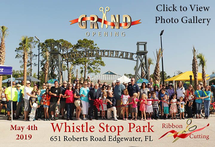 Whistle Stop Park Grand Opening Ribbon Cutting 2019