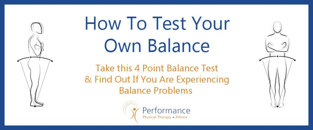 How To Test Your Own Balance NEW 2018