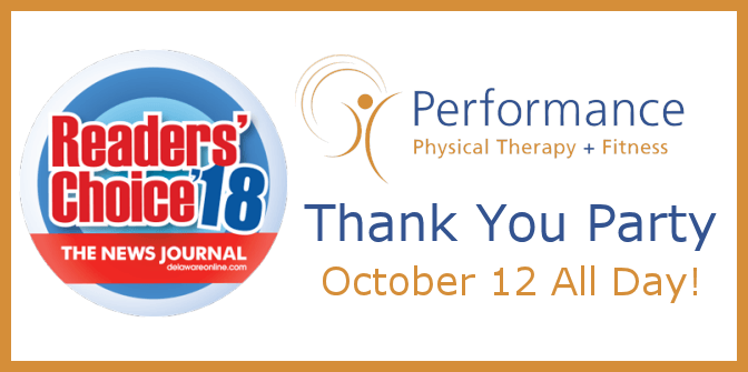 Readers' Choice Awards 2018 Thank You Party at Performance Physical Therapy