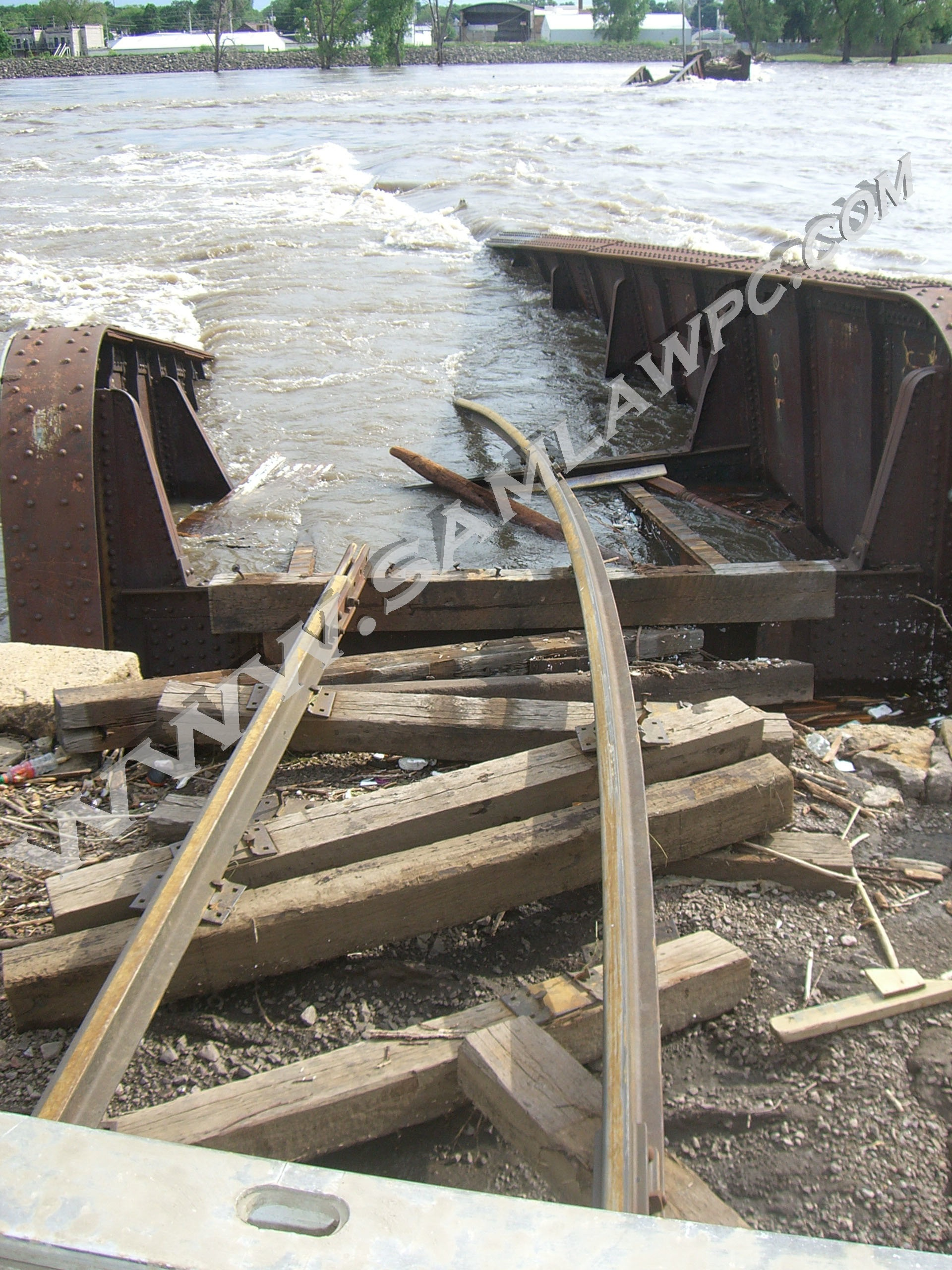 2008 Flood Caused by Three Large Man-Made Obstructions in Waterloo, Cedar Rapids, and Iowa City, Not Rainfall