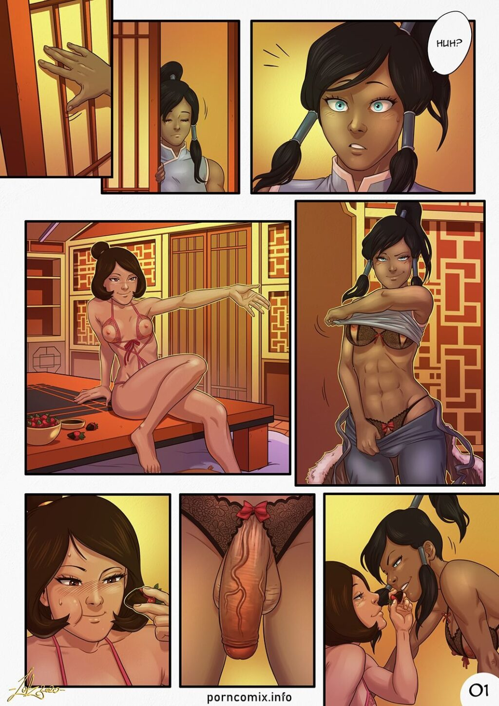 Avatar-The-Last-Air-bender-Porn-interracial-sex-Comic-Futanari-Lesbian-girl-on-girl-cum-on-stomach-small-breasts-Legend-of-Korra-x-Jinora