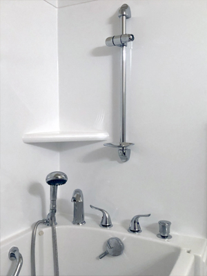 Walk-in tub installation by Family Plumbing, Heating & Air, Inc.