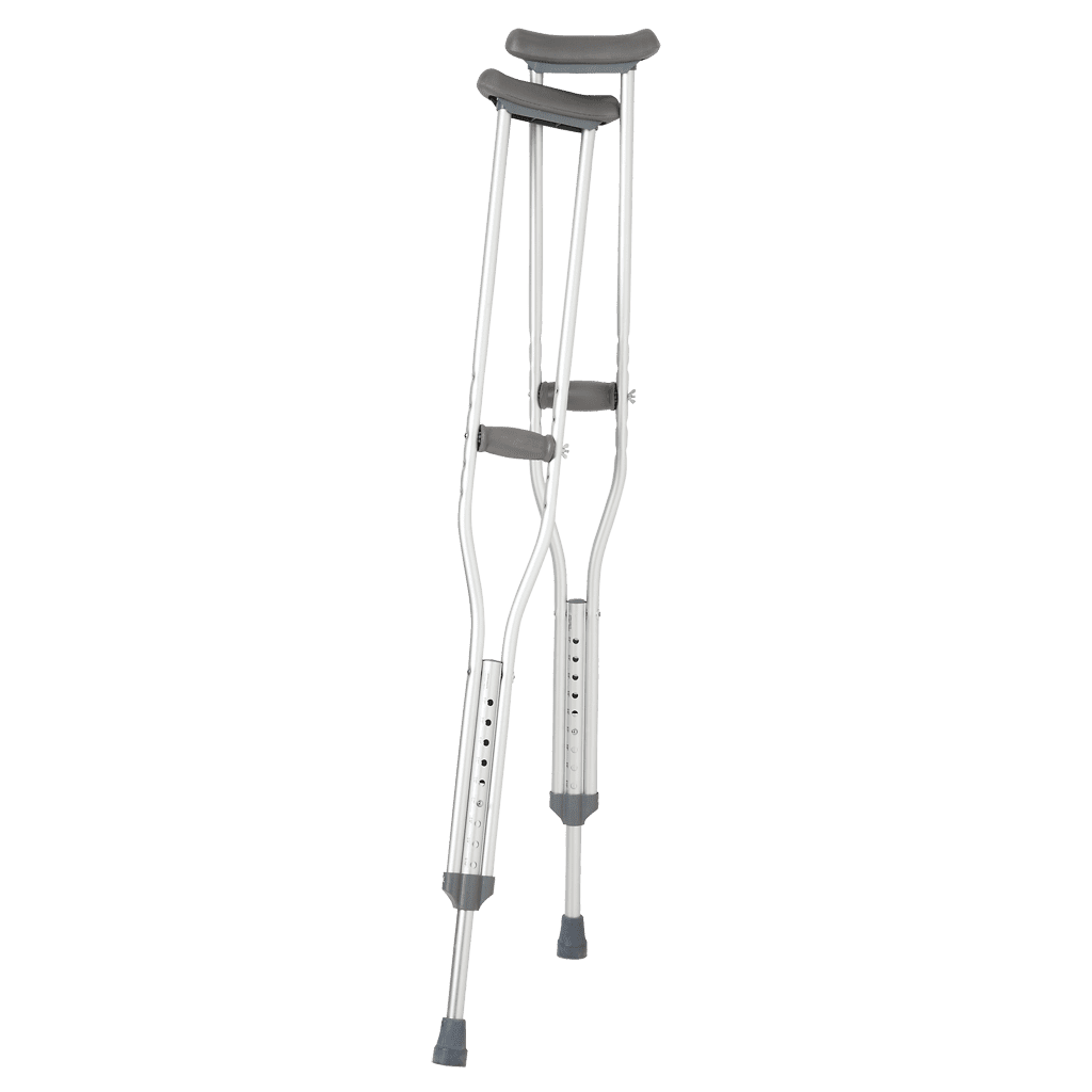 Aluminum Push Button Crutches