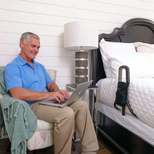 Stander PT Bedcane used in a bed