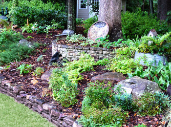 Natural Fieldstone Wall and Boulders