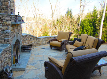 Lake Lanier Outdoor Fireplace and Patio