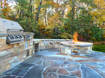 Outside Kitchen, Firepit and Patio - Canton, Georgia