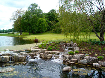 Stone Waterfall on Golf Course