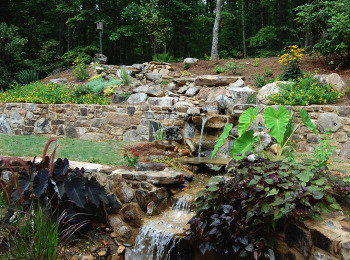 Stone Waterfall & Stone Walls Inspiration