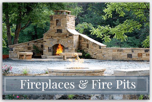 Stone Fireplaces & Fire Pits - Georgia Hardscape Design