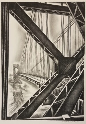 "George Washington Bridge with ""B"", 1931-32"
