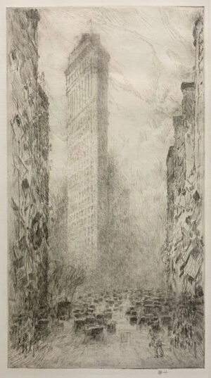 "Childe Hassam, ""Washington's Birthday - Fifth Avenue and 23rd Street"", 1916"