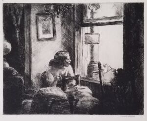 Edward Hopper, East Side Interior