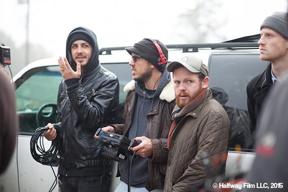 Jonny and crew on set © Halfway Film LLC, 2015