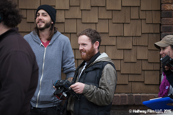 Jonny enjoying himself on the set. © Halfway Film LLC, 2015