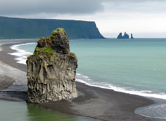 The view from Dyrhólaey in the south of Iceland.