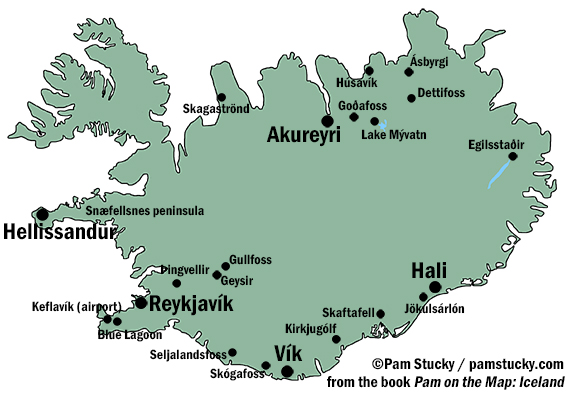 iceland map small